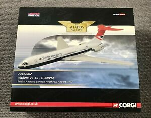 "MEGA RARE MINT CORGI VC-10 1:144 SCALE LTD EDITION CERTIFICATE ""ONE"" OF 754 WOW!"