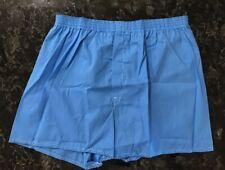 Vintage 70s Boxer Shorts NOS Blue Cotton Fortrel Polyester Blend Sz XL 42-44 USA