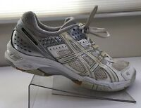 ASICS Womens 8.5 Med Gel Rocket Volleyball Shoes B053N White Silver Sneakers