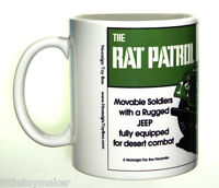 Ceramic mug featuring Marx Rat Patrol Play Set
