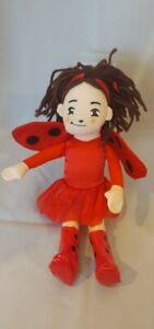 "Ladybug Plush Staffed Doll 2008 By David Soman 10"" Pre-owned"