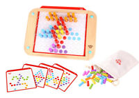 Wooden Pattern Peg Board | Educational Toy | Mosaic | 84 Pegs | Tooky Toy