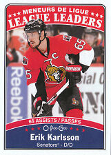 16/17 O-PEE-CHEE OPC LEAGUE LEADERS #657 ERIK KARLSSON SENATORS *24016