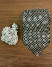 Classic Nautica Men's Blue and Gold Geometric Pattern 100% Silk Neck Tie