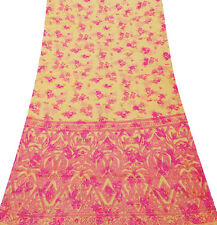 WOMEN INDIAN SARI FASHIONABLE FLORAL SILK BLEND VINTAGE STYLE SAREE SI13135