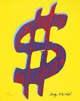 Andy Warhol - DOLLAR SIGN 1981- firmada y numerada