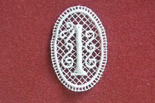 Number 1/one - sew-on lace motif/applique/patch/craft/card making