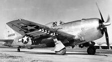 WWII B&W Photo P-47 Thunderbolt with Rockets  WW2 /5069