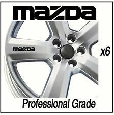 MAZDA WHEEL DECALS - BONGO 2 3 5 6 RX8  - X6 !!!