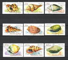 Animaux Coquillages Guinée (95) série complète 9 timbres oblitérés