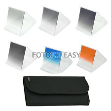 6pc Gradual Graduated ND 2 4 8 ND2 ND4 ND8 Color Filter Kit For Cokin P Series