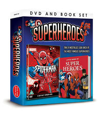 MARVEL SUPERHEROES - SPIDERMAN DVD & LITTLE BOOK OF SUPERHEROES  KIDS GIFT SET