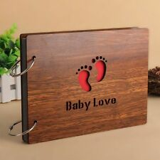 DIY Photos Book Gifts Romance Lovers Baby Wood Cover Photo Album 8 Inch Memory