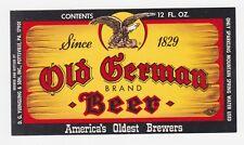 Yuengling Old German Beer 12 oz Beer Label