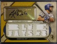 2017 Topps Triple Threads Gold KENDSRYS MORALES Autograph Jersey Relics 6/9