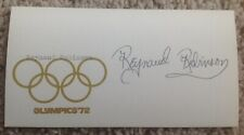 REYNAUD ROBINSON Autographed 1972 USA OLYMPIC TRACK & FIELD TEAM Card FREE SHIP
