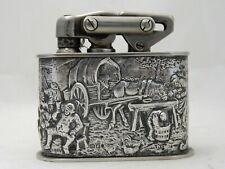 antikes großes Benzin-Tischfeuerzeug Niederlande Silber 833