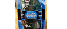 Salton Wet Tunes Shower Radio Player Translucent Blue New