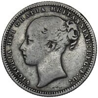 1879 SHILLING (EXTREMELY RARE 3rd HEAD w/ DIE NO) - VICTORIA BRITISH SILVER COIN