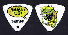 Metallica Sux Cartoon Bass Guitar Pick - Europe 2011 Tour