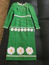 NWT DOLCE&GABBANA Daisy Embroidered Green Dress  42/6