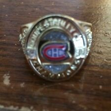 Molson Canadian stanley cup Montreal Canadiens 1930 Championship Ring.