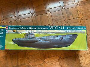 1:72 Revell Germany German U-Boat Type VII C/41 Submarine  - NEW !