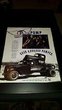 Aerosmith Pump 6 Million Sold Rare Original Promo Poster Ad Framed!