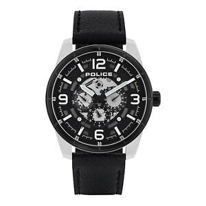 15663J Police Lawrence Black Strap Watch