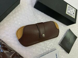 Persol Eyeglass Case Leather Brown Slim Case ( Limited Edition) Case