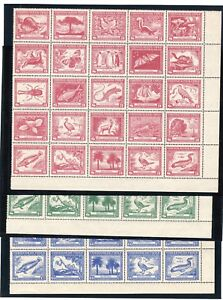 CHILE Claudio Gay wildlife full sheets MNH TOP quality 3p 2.6p & 60c fauna flora