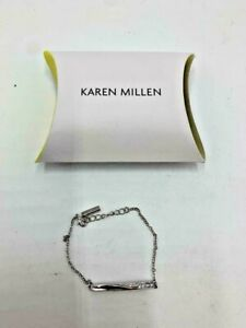 Ladies Karen Millen Silver Effect Crystal Bar Bracelet- BNIB- RRP £45
