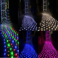 96/200/880LED Net Mesh Light Xmas Party Outdoor Fairy Garden String Lights Lamp