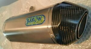 NEW ARROW LEFT HAND SILENCER CARBON TIP TRIUMPH SPEED TRIPLE 1050, LEFT ONLY