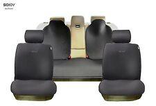 Sojoy Universal Four Season Full Set OF Car Seat Covers/Cushions Honeycomb Black