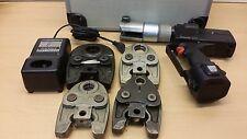 Wavin Unicor Unipipe Uponor UP 75 Akku Pressmaschine Presszange 4x U Pressbacke