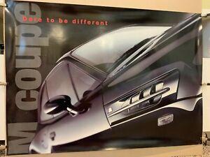 RARE! Original BMW M coupe Poster! BMW MZ3 Dealer Promo Item! Dare Poster!