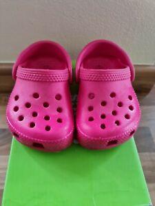 Baby Girls Crocs Sandals Infant Size 4