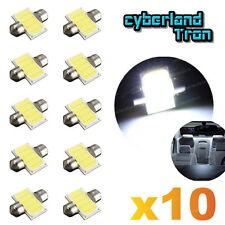 10X White COB LED Map Dome Interior Bulb 31MM Festoon 3175 3022 6428 DE3175 Tool