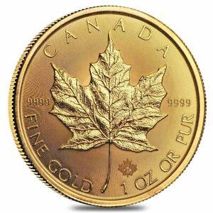 2021 1 oz Canadian Gold Maple Leaf $50 Coin .9999 Fine BU