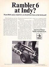 1967 RAMBLER-POWERED INDY 500 CAR  ~  GREAT ORIGINAL AMERICAN MOTORS AD