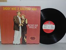 BOXCAR WILLIE Daddy Was A Railroad Man Vinyl LP Column One Country Plays Well