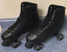Rewind Roller Skates Derby Elite Mens Size 12 Black Preowned