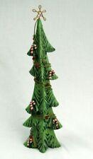 "Fitz and Floyd rare Christmas tree Figurine skinny tree 16"" holiday decor"