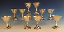 """Woodside Sterling Silver Wine Cup Set 10Pc 4 1/2"""" Tall (#0898)"""