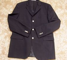 "Burberry Mens Black Wool Sport Jacket Blazer ""Signature Buttons"" Size 42L"