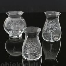 3er Set LUIGI COLANI Ritzenhoff Glasvase Vase Baum Baumvase Glass Vase 70s 70er