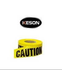 "Keson Bt210 Caution Tape 3"" x 200 Feet Single Roll"
