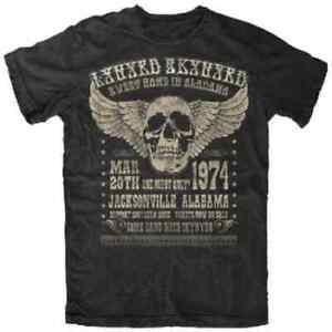 Lynyrd Skynyrd American rock band Alabama 74 Vintage Unisex Black T-shirt