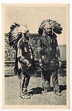 INDIEN deux chefs iroquois de Caughanawaga en habits de fetes